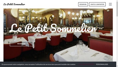 Site internet de Le Petit Sommelier