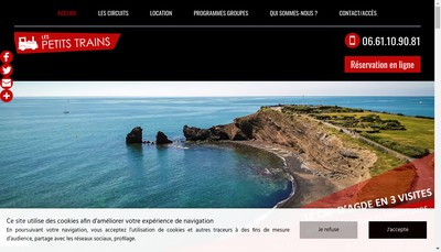 Site internet de Le Petit Train du Cap d'Agde
