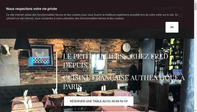 Site internet de Le Petit Villiers Chez Fred