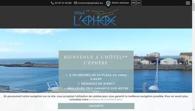 Site internet de L'Ephebe