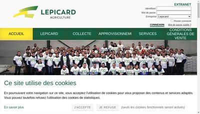 Site internet de Etablissements Lepicard