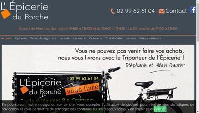 Site internet de L'Epicerie du Porche