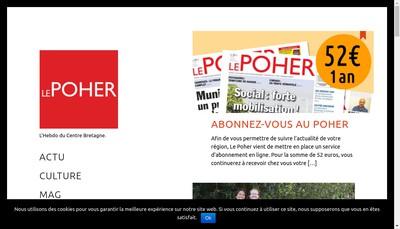 Site internet de Le Poher Hebdo