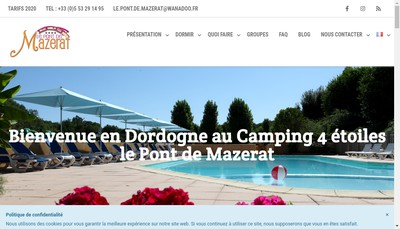 Site internet de Le Pont de Mazerat