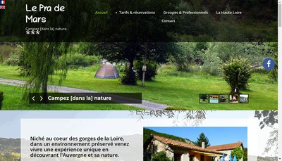 Site internet de Le Pra de Mars