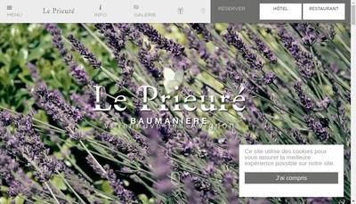 Site internet de Societe Nouvelle le Prieure Vla