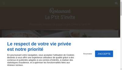 Site internet de Le P'Tit S'Invite