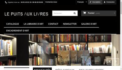Site internet de Le Puits aux Livres
