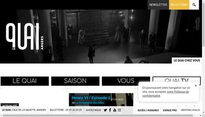 Site internet de Le Quai NY