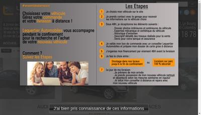 Site internet de Lequertier Automobiles