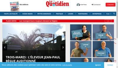 Site internet de Le Quotidien