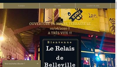 Site internet de Le Relais de Belleville