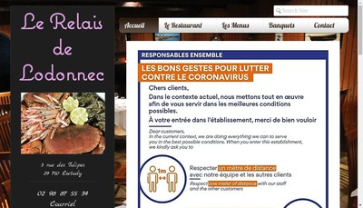 Site internet de Le Relais de Lodonnec