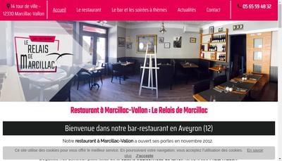 Site internet de Le Relais de Marcillac