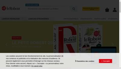 Site internet de EURL Robert