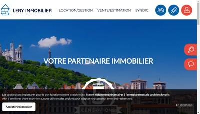 Site internet de Lery Immobilier