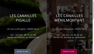 Site internet de Les Canailles Menilmontant