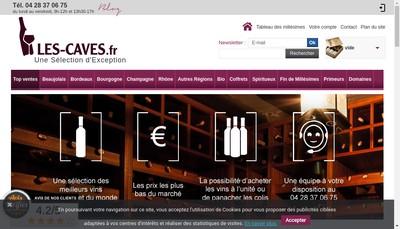 Site internet de Les Caves de Bourgogne, Caves du Rhone, Caves d'Alsace, Caves Champenoises, Caves de Bordeaux