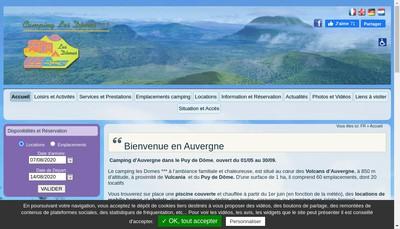 Site internet de Camping des Domes