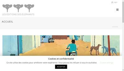 Site internet de Les Editions des Elephants