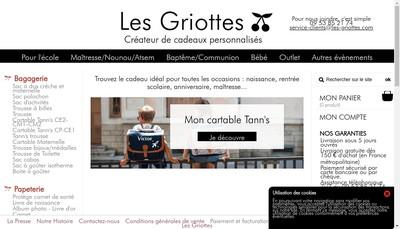 Site internet de Les Griottes