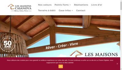 Site internet de Les Maisons Guy Casanova