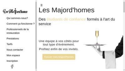 Site internet de Les Majord'Homes