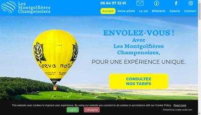 Site internet de Les Montgolfieres Champenoises