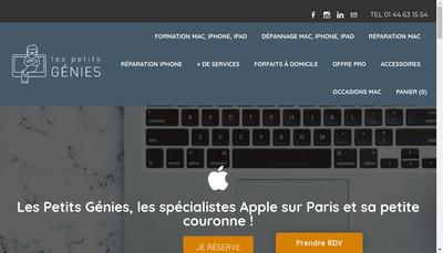 Site internet de Les Petits Genies
