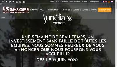Site internet de Bar les Sablons