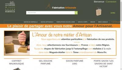 Site internet de Les Savons de Saint Victor