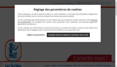 Site internet de Les Scribes