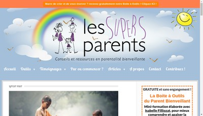 Site internet de Editions les Supers Parents