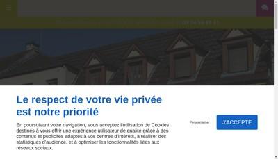 Site internet de Les Terrasses de Corton