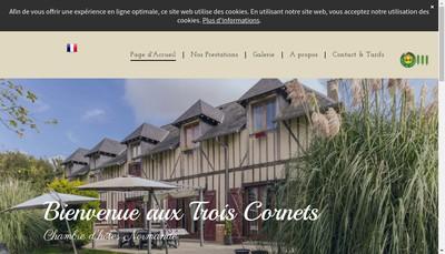 Site internet de Les Trois Cornets