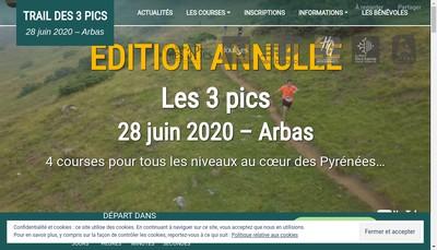 Site internet de Les 3 Pics