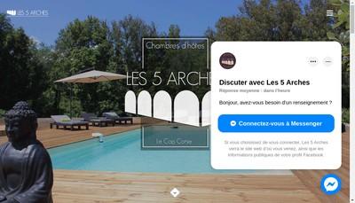 Site internet de Les 5 Arches