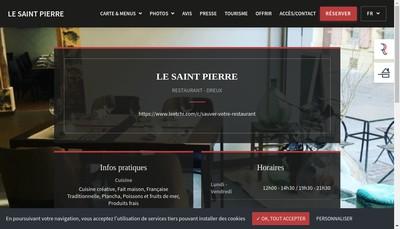 Site internet de Restaurant le Saint Pierre