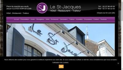 Site internet de Hostellerie Saint Jacques - le P'Tit Bistrot