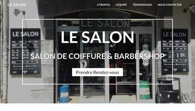 Site internet de SARL le Salon
