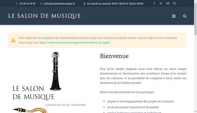 Site internet de Le Salon de Musique