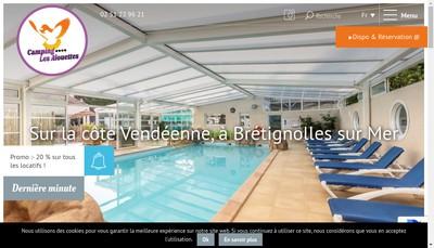 Site internet de Camping les Alouettes