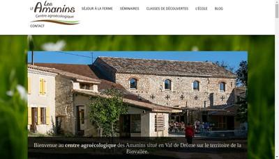 Site internet de Les Amanins