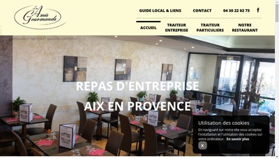 Site internet de Les Amis Gourmands