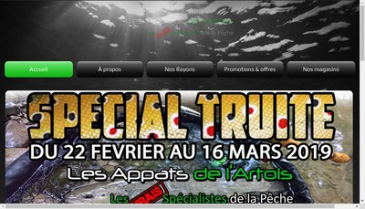 Site internet de Les Appats de l'Artois