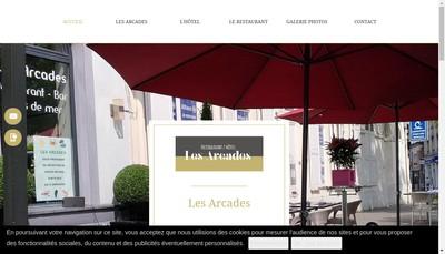 Site internet de Les Arcades