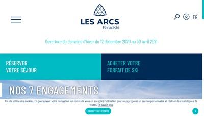 Site internet de Les Arcs Bourg St Maurice Voyages