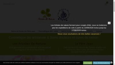 Site internet de Les Artistes de Nature