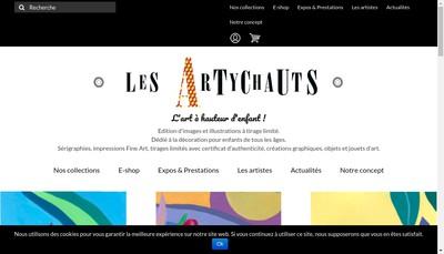 Site internet de Les Artychauts-Agency