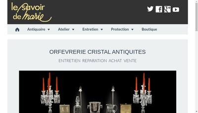 Site internet de Le Savoir de Marie